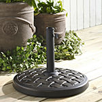 Weave Round Patio Umbrella Base