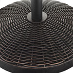 Round Wicker Patio Umbrella Base
