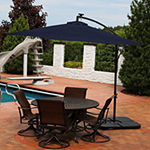 Sunnydaze® 10-Foot Steel Offset Solar Patio Umbrella