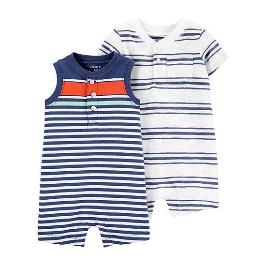 Carter's Baby Girls 2-pc. Short Sleeve Romper