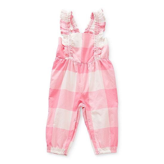 Okie Dokie Baby Girls Sleeveless Embroidered Jumpsuit