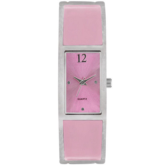Womens Square Enamel Bangle Watch