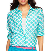 jcp™ Button-Front Shirt