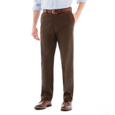 Savane® Eco Start® Flat-Front Twill Pants