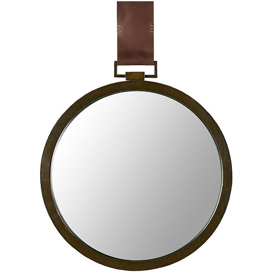 Time Out Beveled Round Wall Mirror