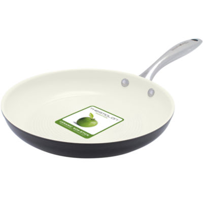 """GreenPan™ Lima I Love Cooking 11"""" Ceramic Fry Pan for Meat and Poultry"""