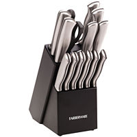 Farberware 15-Piece Stainless Steel Knife Set Deals