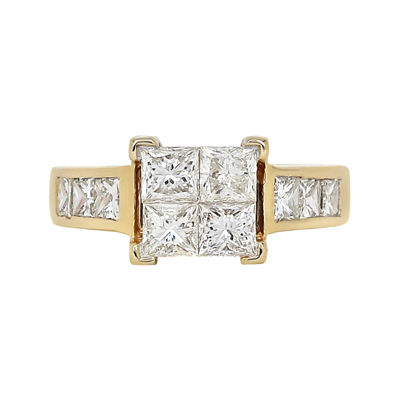 LIMITED QUANTITIES 1 ½ CT. T.W. Diamond 14K Yellow Gold Engagement Ring