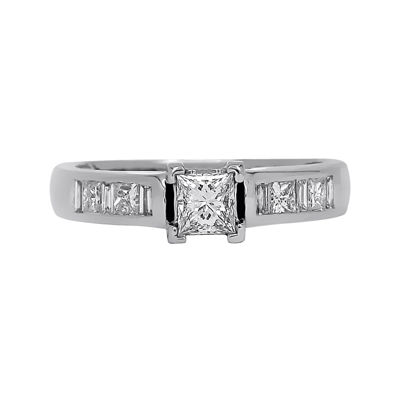 LIMITED QUANTITIES 3/4 CT. T.W. Diamond 14K White Gold Engagement Ring