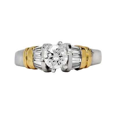 LIMITED QUANTITIES 3/4 CT. T.W. Diamond Platinum and 18K Yellow Gold Engagement Ring