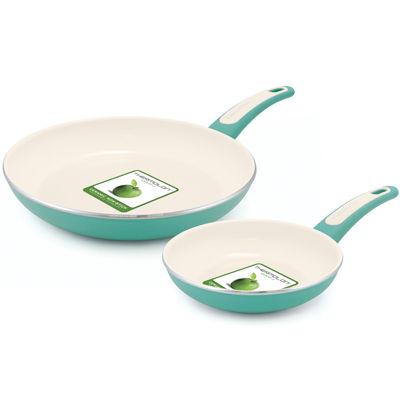"GreenPan™ Focus 7"" and 10"" Aluminum Nonstick Fry Pan Set"