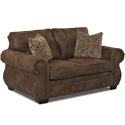 Burk Faux-Leather Loveseat