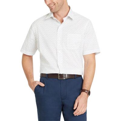 Van Heusen Short Sleeve Dots Button-Front Shirt