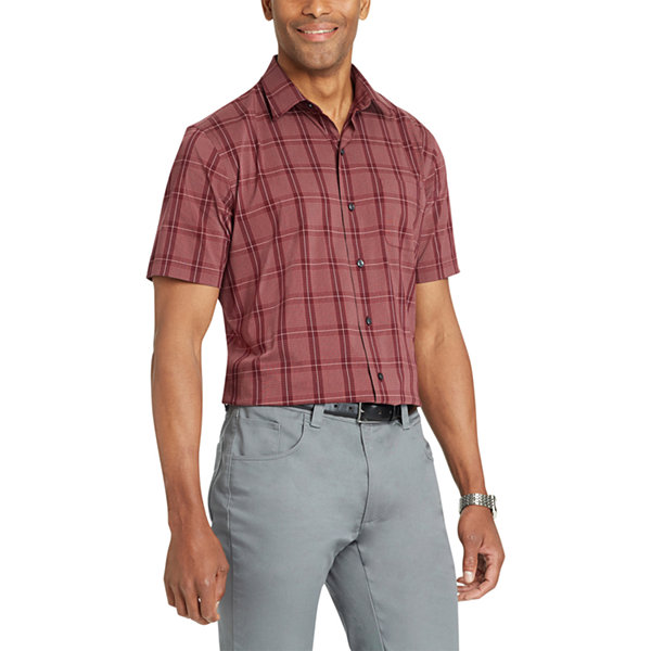 Van Heusen Flex Short Sleeve Button-Front Shirt