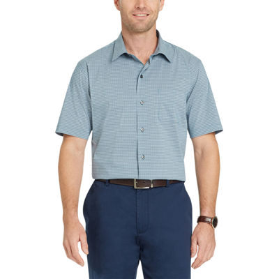 Van Heusen Short Sleeve Checked Button-Front Shirt