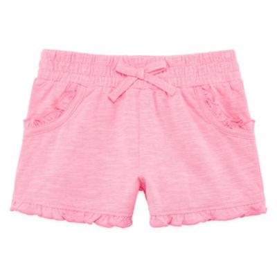 Okie Dokie Pull-On Ruffle Short Toddler Girls