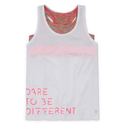 Xersion Graphic Tank Top & Sports Bra - Girls 4-16 and Plus