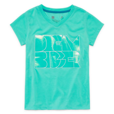 Xersion Sleeve Graphic Tee - Girls Sizes 4-16 and Plus