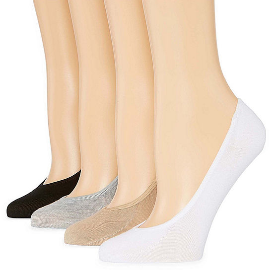 Peds 4 Pair Knit Liner Socks - Womens