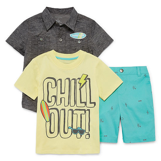 Okie Dokie Boys 3-pc. Short Set Toddler