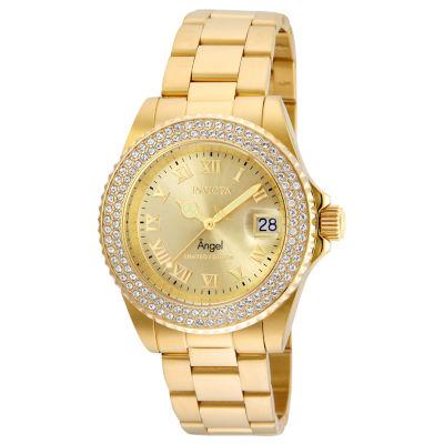 Invicta Angel Womens Gold Tone Bracelet Watch-24614