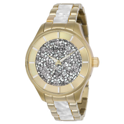 Invicta Angel Womens Gold Tone Bracelet Watch-24666