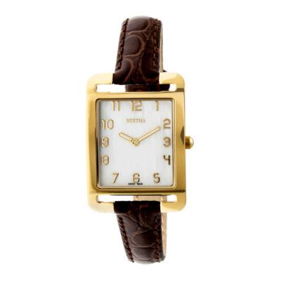 Bertha Unisex Brown Strap Watch-Bthbr6903