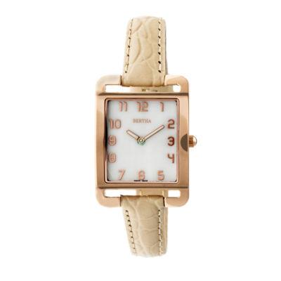 Bertha Unisex White Strap Watch-Bthbr6904