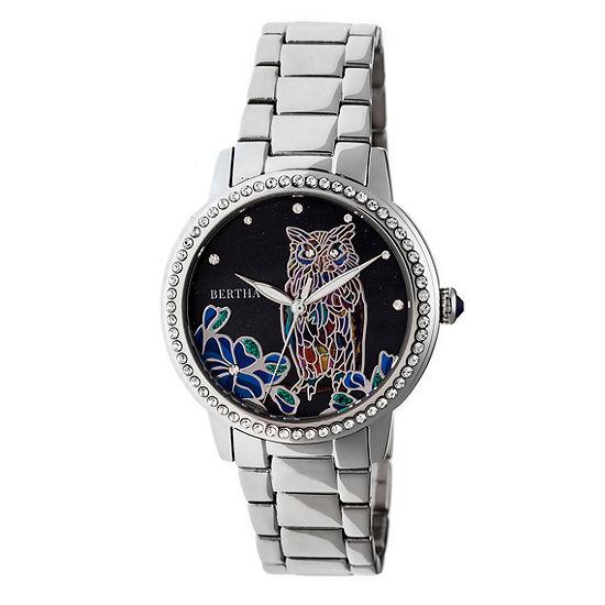 Bertha Womens Silver Tone Stainless Steel Bracelet Watch-Bthbr7101