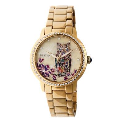 Bertha Unisex Gold Tone Bracelet Watch-Bthbr7102