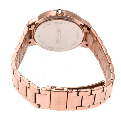 Bertha Unisex Rose Goldtone Bracelet Watch-Bthbr7103
