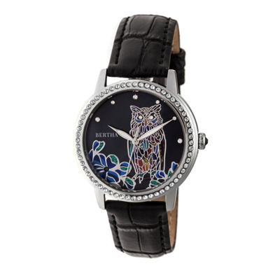 Bertha Unisex Black Strap Watch-Bthbr7104