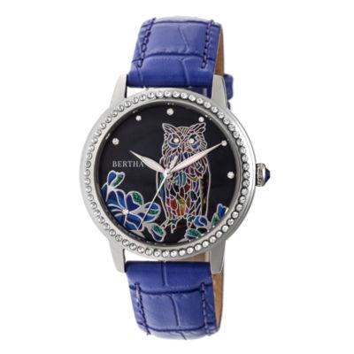 Bertha Unisex Purple Strap Watch-Bthbr7105