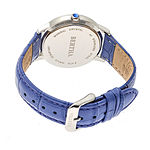Bertha Unisex Adult Purple Leather Strap Watch-Bthbr7105