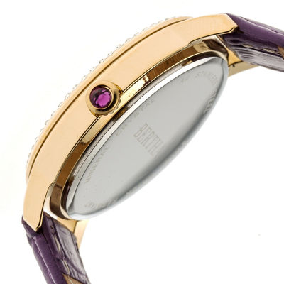 Bertha Unisex Purple Strap Watch-Bthbr7107