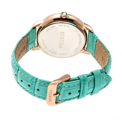Bertha Unisex Blue Strap Watch-Bthbr7108