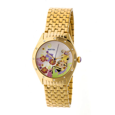 Bertha Unisex Gold Tone Bracelet Watch-Bthbr7202
