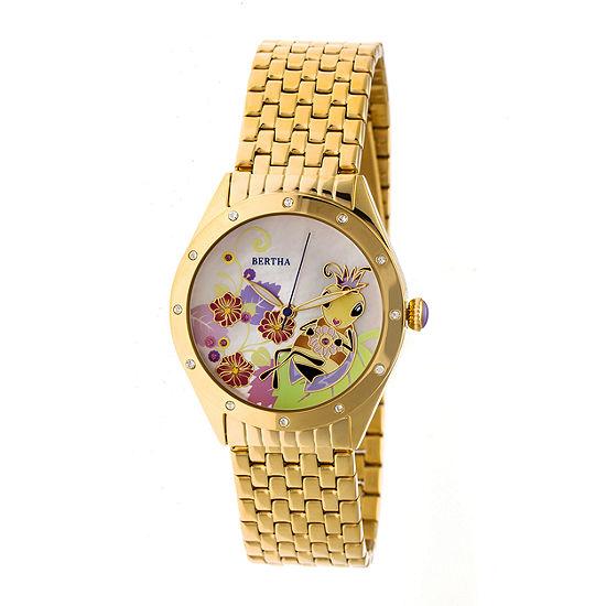 Bertha Unisex Gold Tone Bracelet Watch Bthbr7202