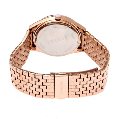 Bertha Unisex Rose Goldtone Bracelet Watch-Bthbr7203