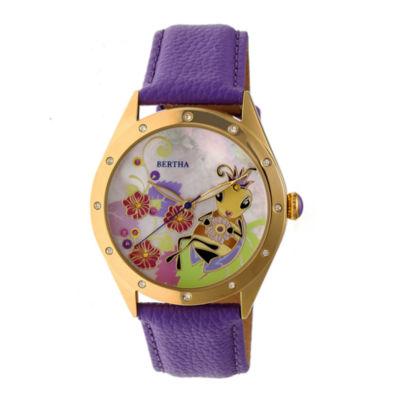 Bertha Unisex Purple Strap Watch-Bthbr7205