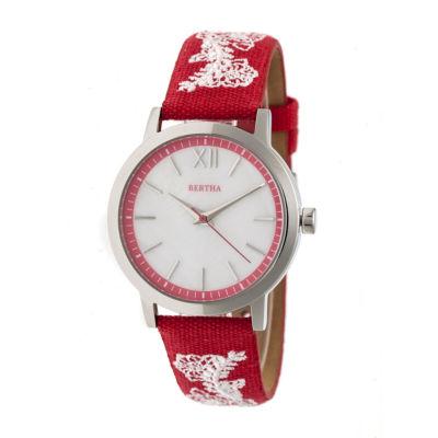 Bertha Unisex Red Strap Watch-Bthbr7301