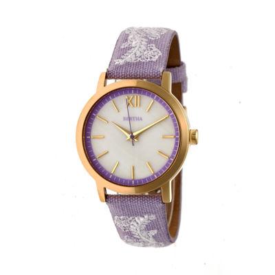 Bertha Unisex Purple Strap Watch-Bthbr7303