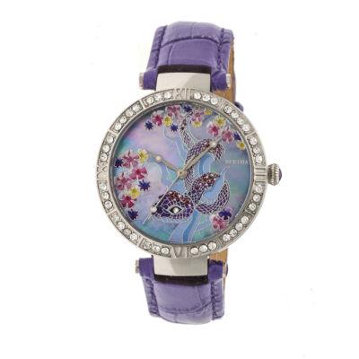 Bertha Unisex Purple Strap Watch-Bthbr7402