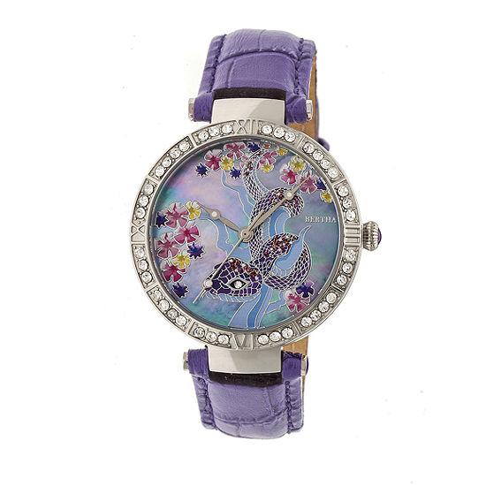 Bertha Unisex Purple Strap Watch Bthbr7402