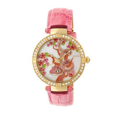 Bertha Unisex Pink Strap Watch-Bthbr7404