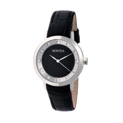 Bertha Unisex Black Strap Watch-Bthbr7501
