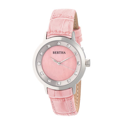 Bertha Unisex Pink Strap Watch-Bthbr7502