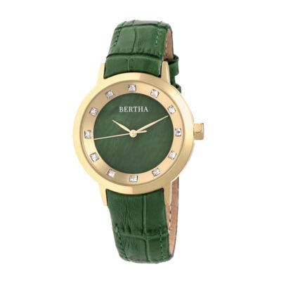 Bertha Unisex Green Strap Watch-Bthbr7503