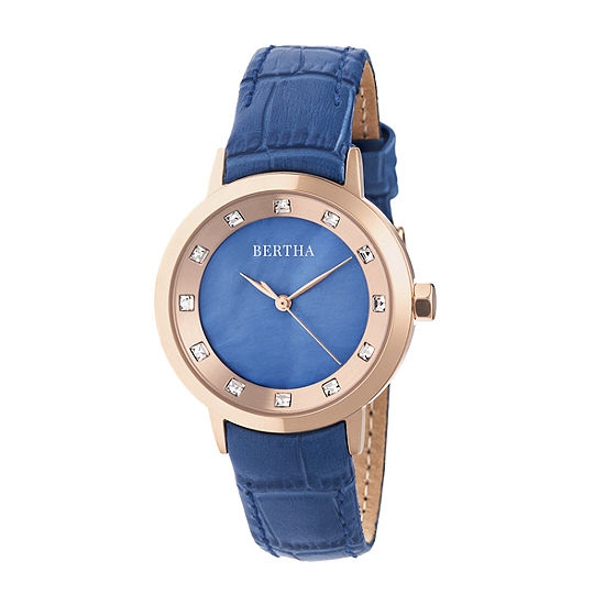 Bertha Unisex Blue Strap Watch Bthbr7505