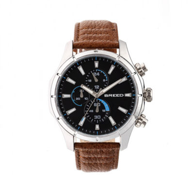 Breed Unisex Brown Strap Watch-Brd6802